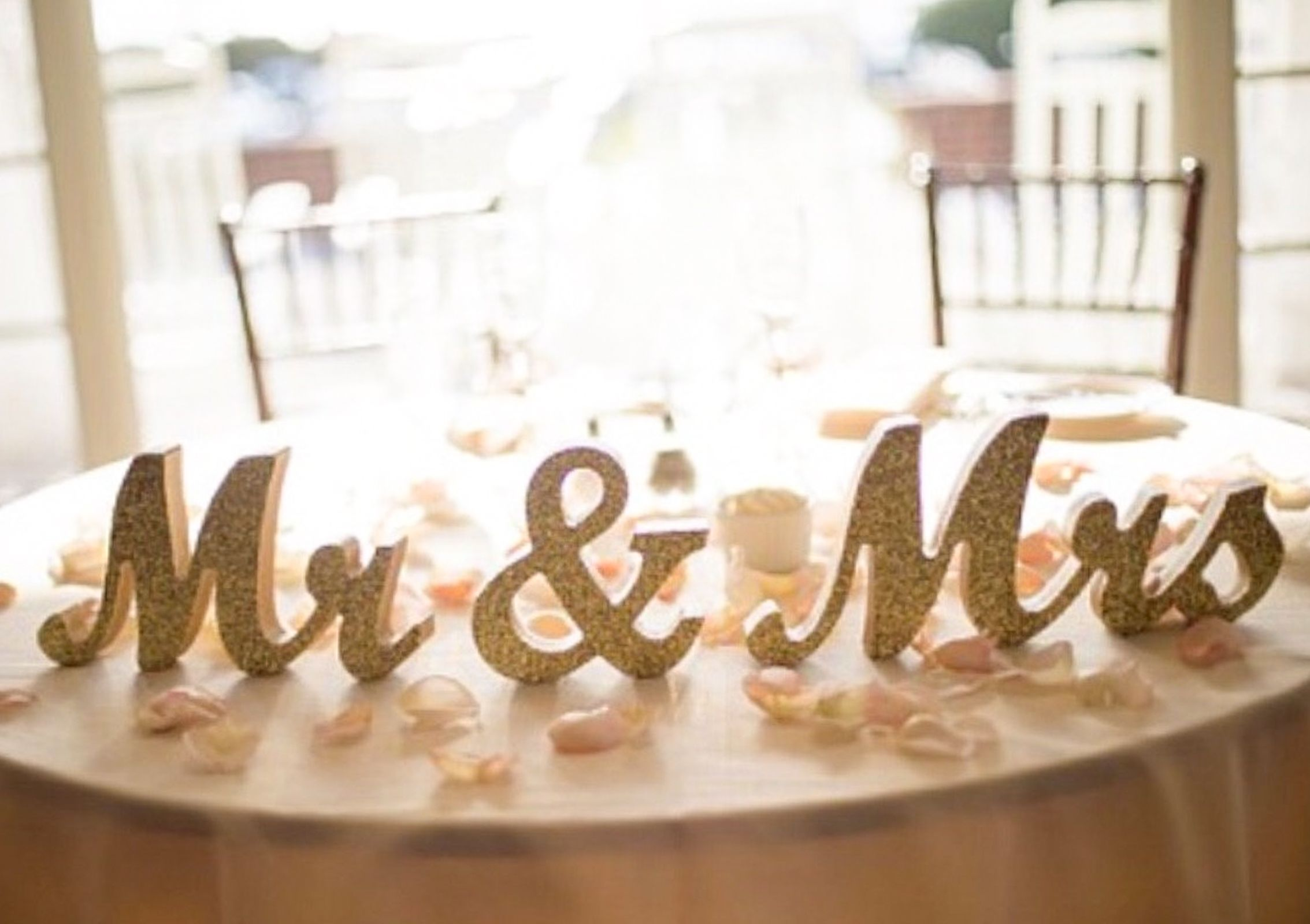 Pure White Mr /& Mrs Elegant Script Letters for Wedding Table Decor Rustic Wedding Signage. Wedding Top Table Decor White