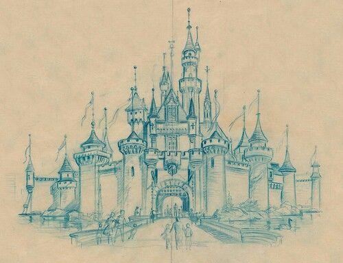 Cinderella Castle Drawing
