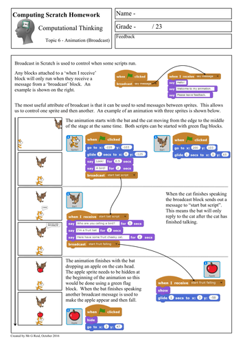 Scratch Programming - Computational Thinking Homework 1