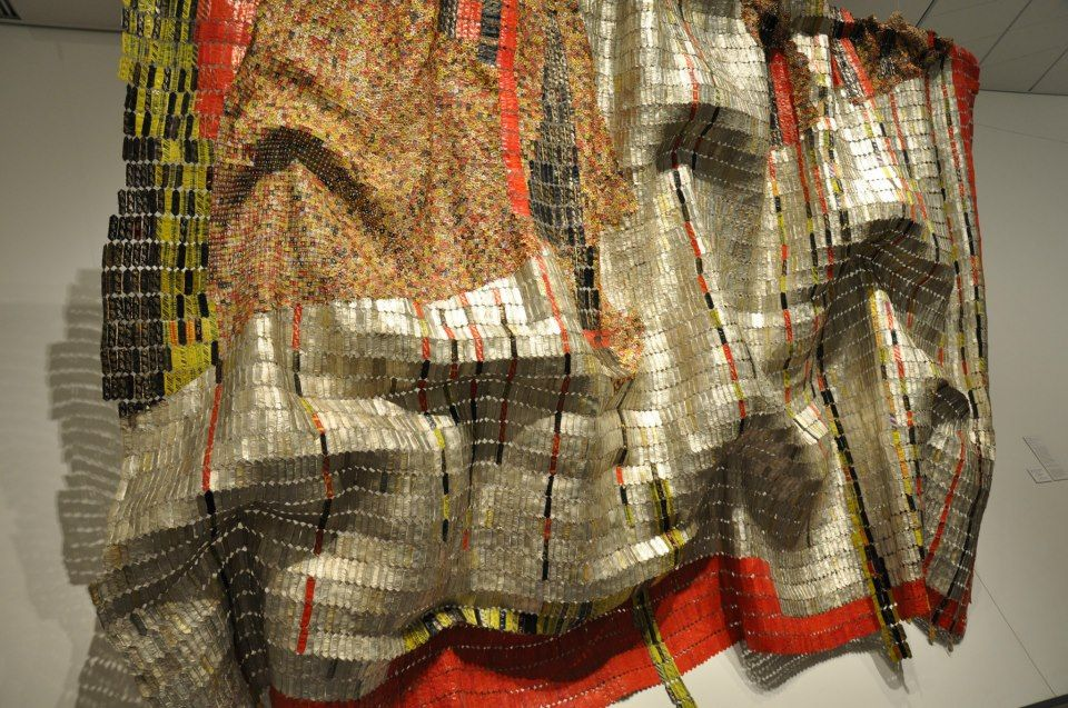El Anatsui  Contemporary Artist who was born in Ghana but lives and creates in Nigeria. pinned with @PinvolveLove