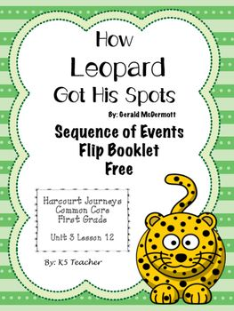 How leopard got his spots this activity supplements the first grade how leopard got his spots sequence of events houghton mifflin harcourtreading fandeluxe Image collections