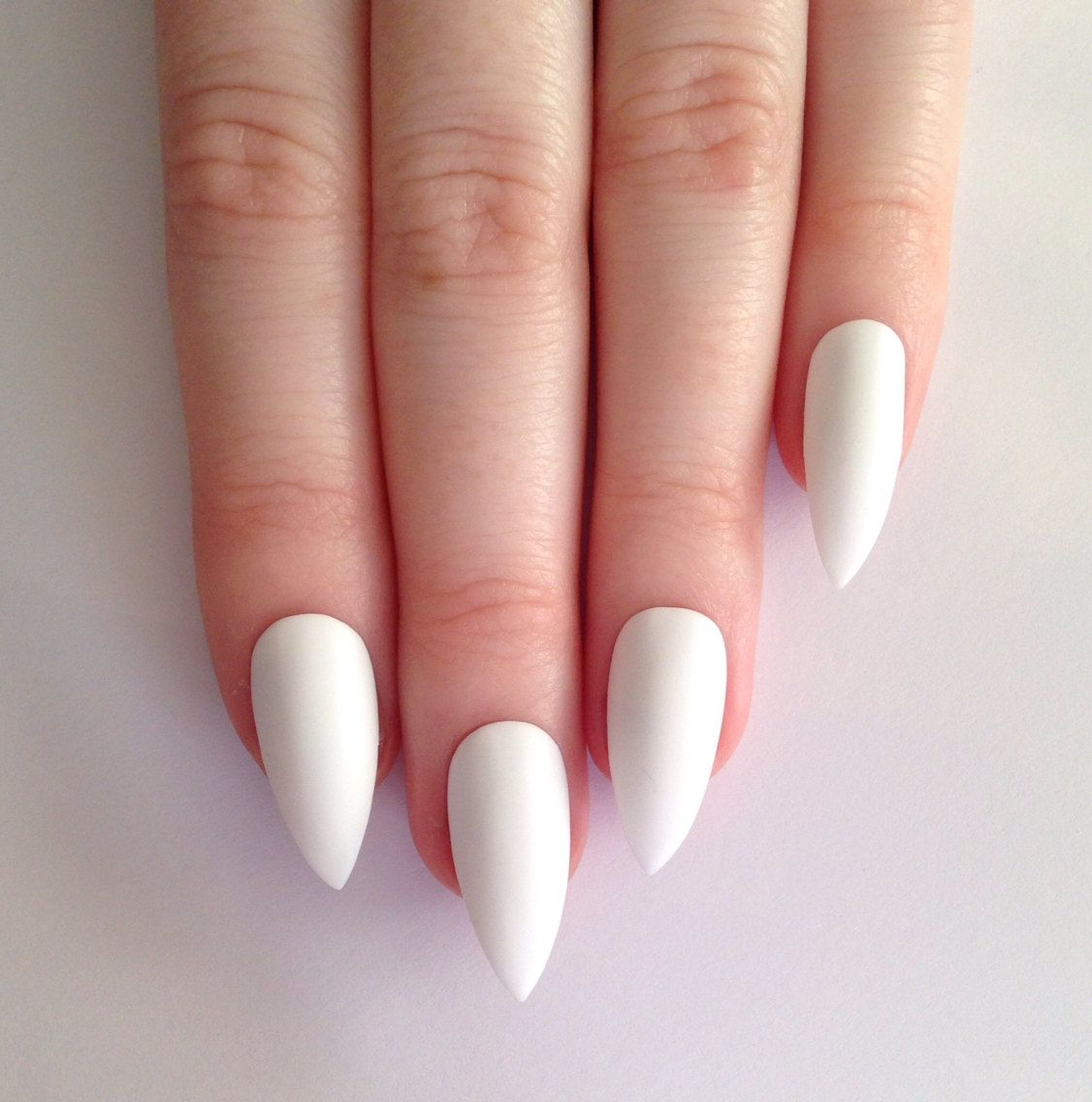 Cool pointy nails google search gretchen pinterest pointy matte white stiletto nails nail designs nail by prettylittlepolish prinsesfo Gallery