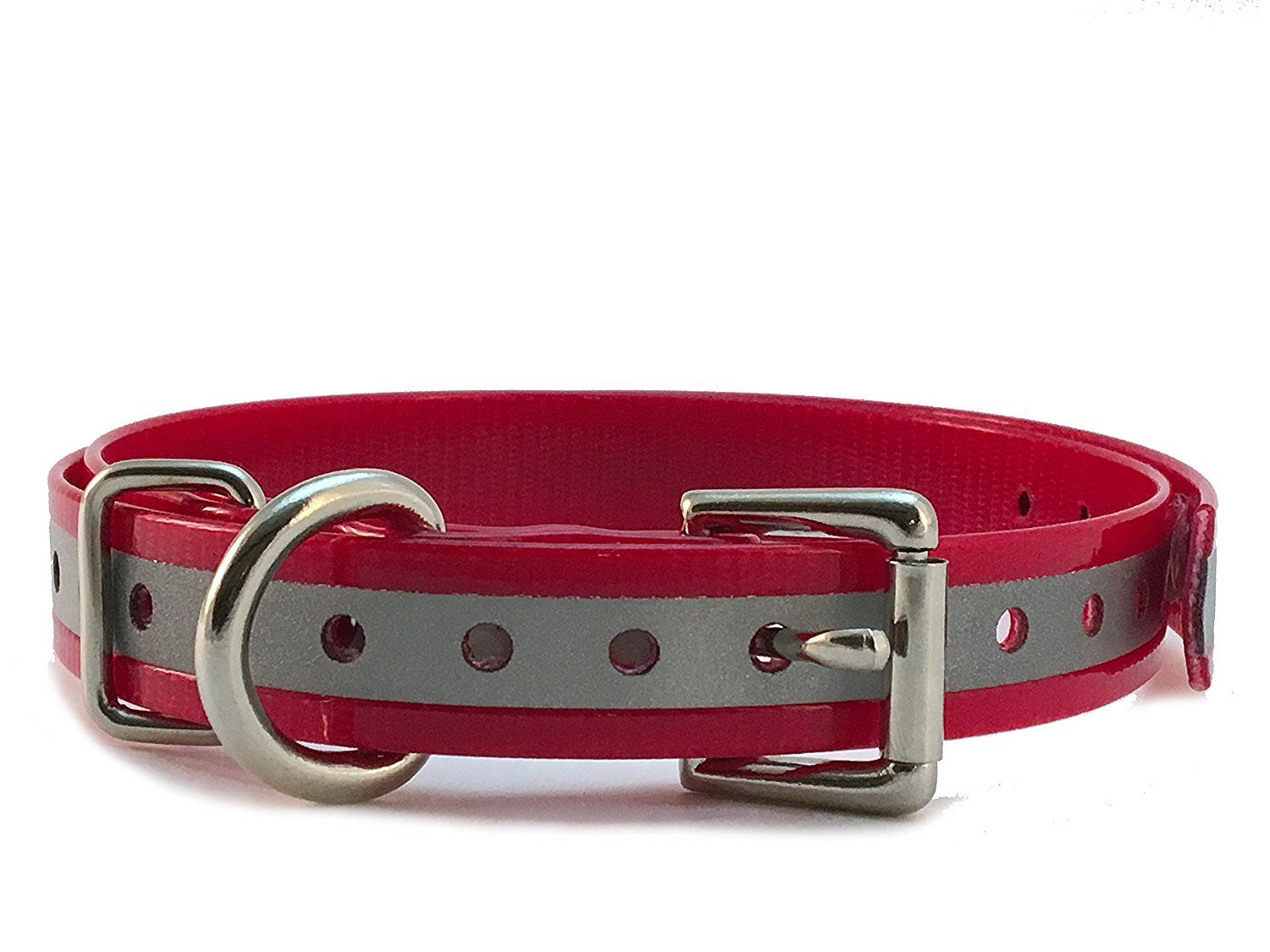 Sparky Petco 1 Roller Buckle High Flex Reflective Red Waterproof Dog Strap For Garmin Dogtra Petsafe Sportdog E Collar Petco Dog Accesories Dog Training Pads