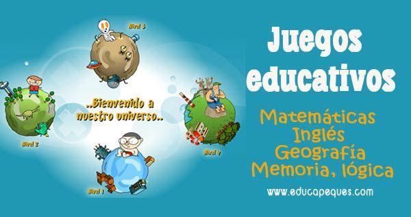 Juegos Educativos Online De Matematicas Lengua Ingles Etc