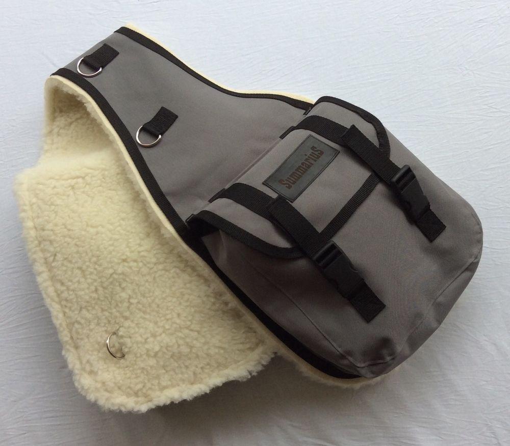 Satteltasche Hinterpacktasche mit Schafwolle unterlegt \