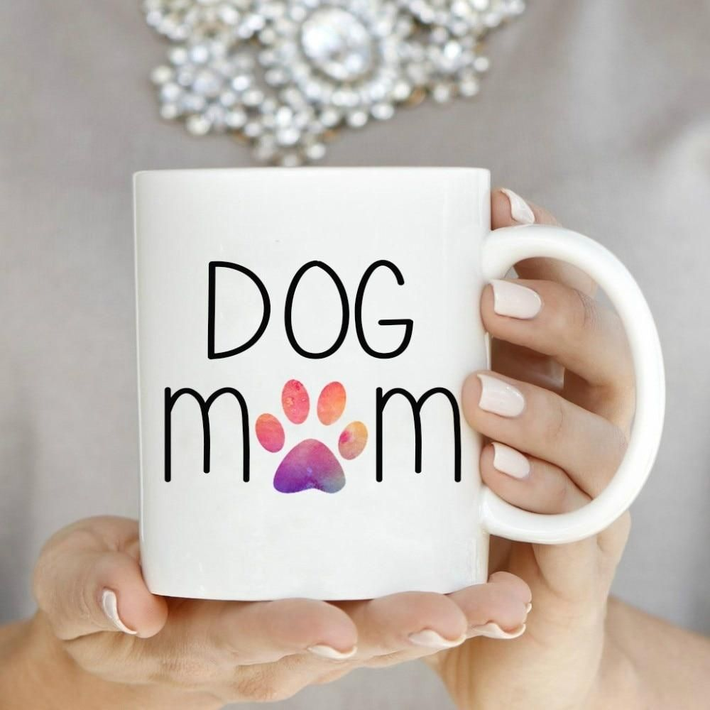 Dog Mom Mugs Ceramic #teamugs