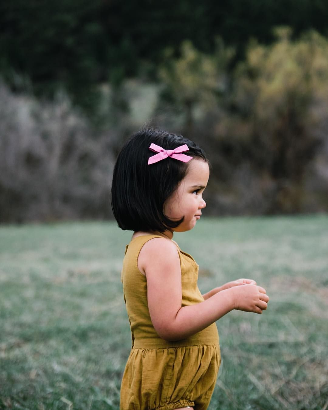"pretty sure it doesn't get cuter than this. // ""orchid"" bow + @soor_ploom ""ochre"" romper. // photo by @simplysuzys // launch Monday!"