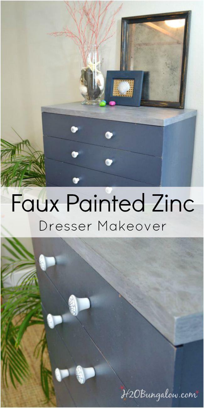 Faux painted zinc dresser nautical drawer pulls nautical drawers