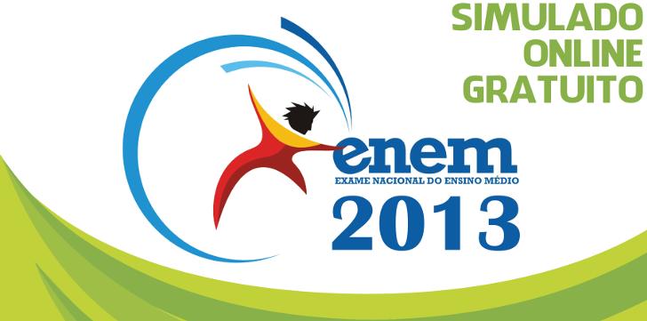 Se prepare para o ENEM 2013 com um simulado online e gratuito