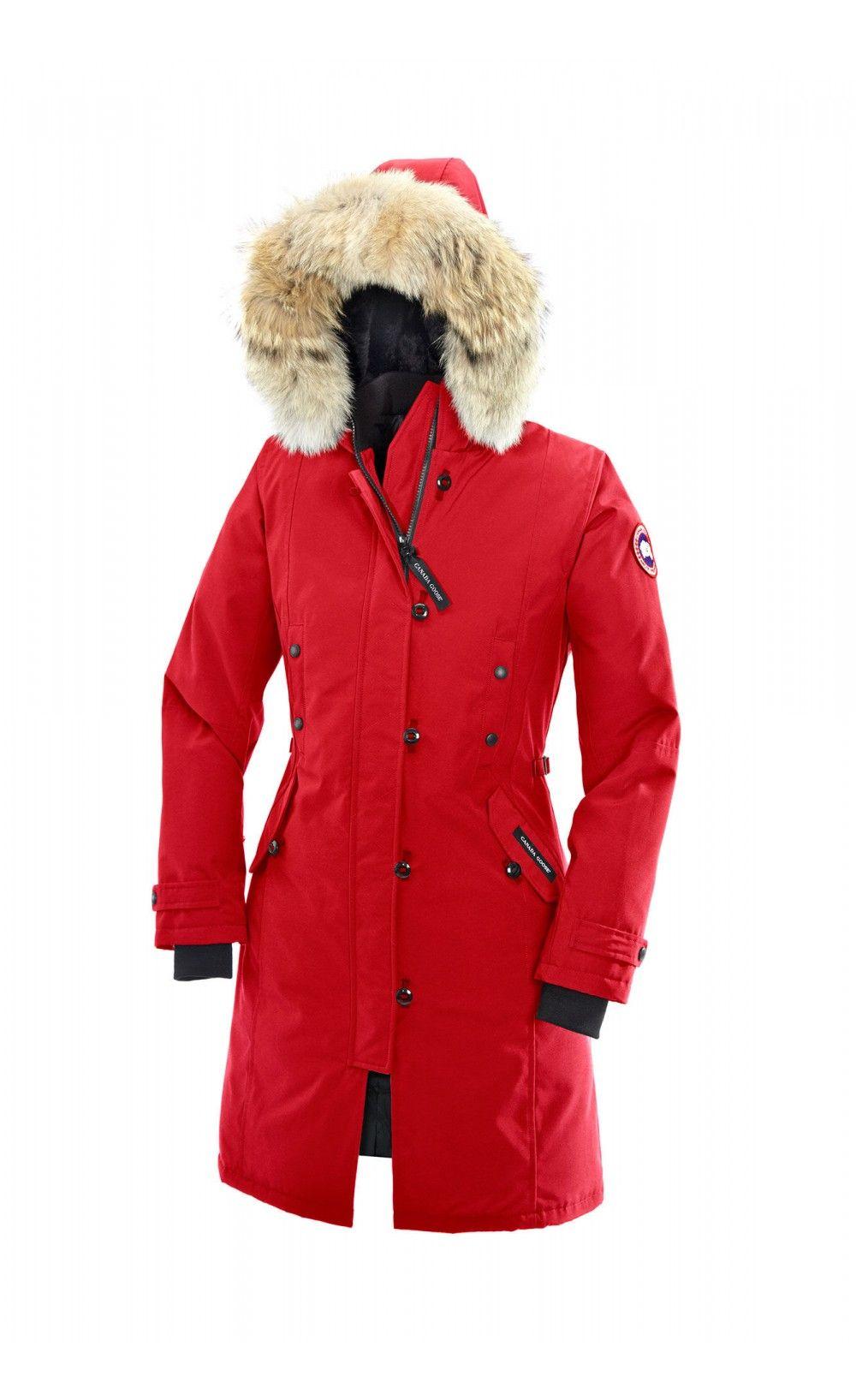Canada Goose Kensington Parka Red Women Canada Goose Kensington Parka Fashion Fashion Lookbook