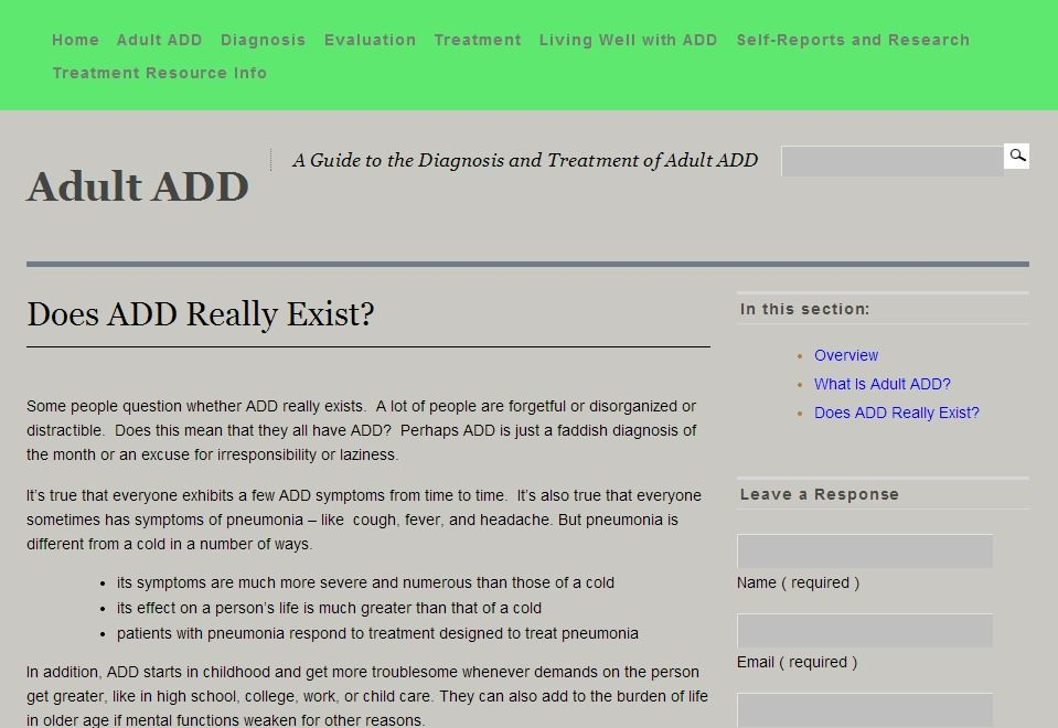 A Guide to the Diagnosis and Treatment of Adult ADD - Co-editors are  psychiatrists, Nicholas and Marc Schwartz. - Includes sections on Living  well with ADD, ...