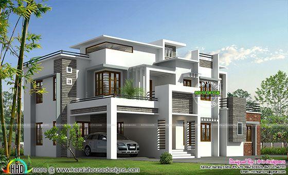Box Model Contemporary House Kerala House Design Contemporary