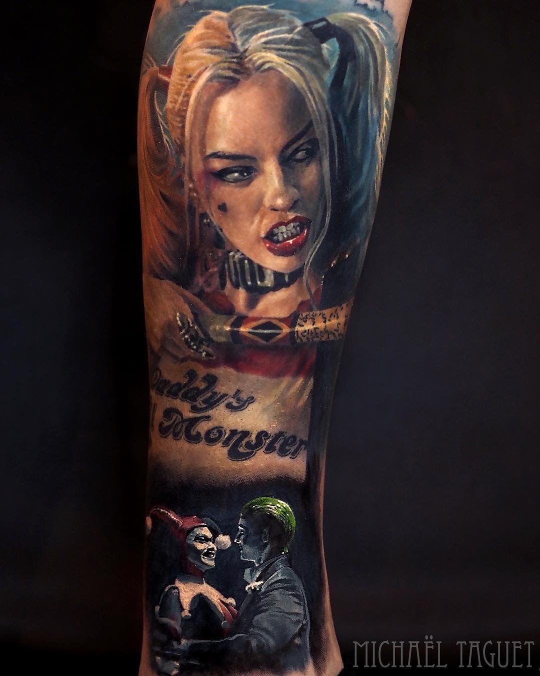 ef2e8c597 Pin by Thomas Rohner on Superheroes   Harley quinn tattoo, Tattoos ...