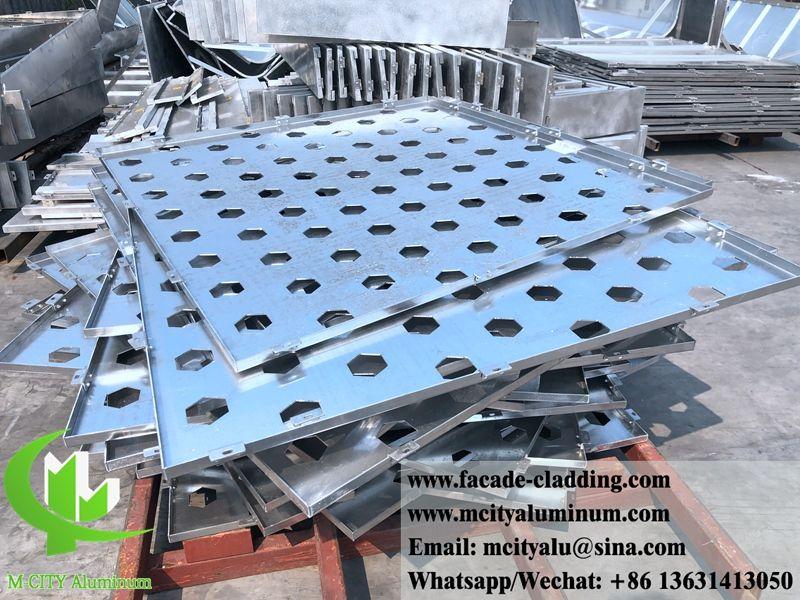 Metal Sheet Aluminum Cladding With Hexagon Holes Aluminium Cladding Cladding Cladding Panels