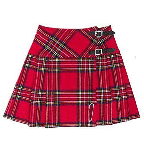 d235947d5 TC Scottish Mini Ladies Skirt Royal Stewart Tartan/Women Mini Skirt Kilt  (Royal Stewart 18 UK Size)