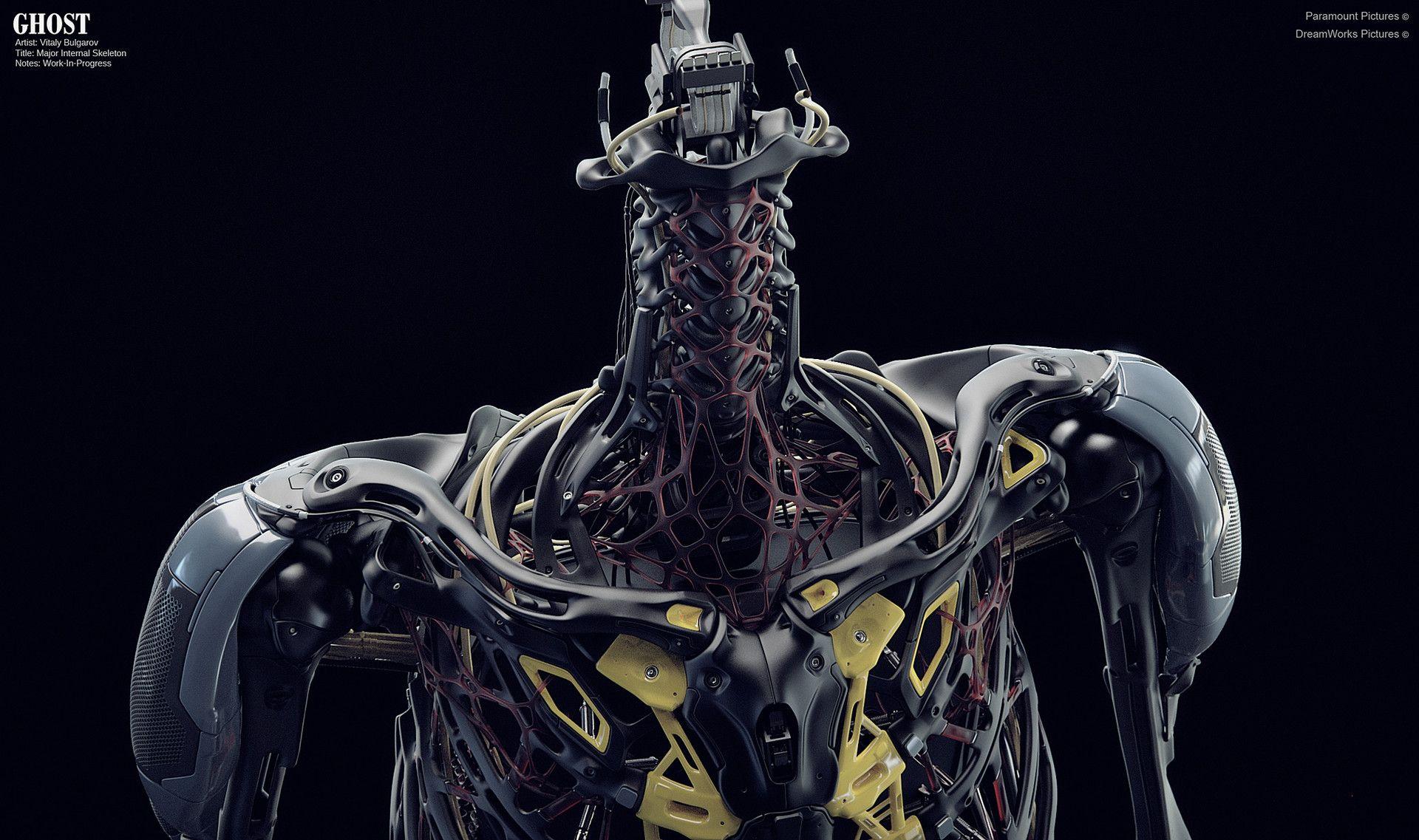 Artstation Concept Design Work For Ghost In The Shell Film Vitaly Bulgarov Ghost In The Shell Concept Design Robot Design