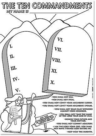 10 Commandments Coloring Page The Ten Commandments Vacation