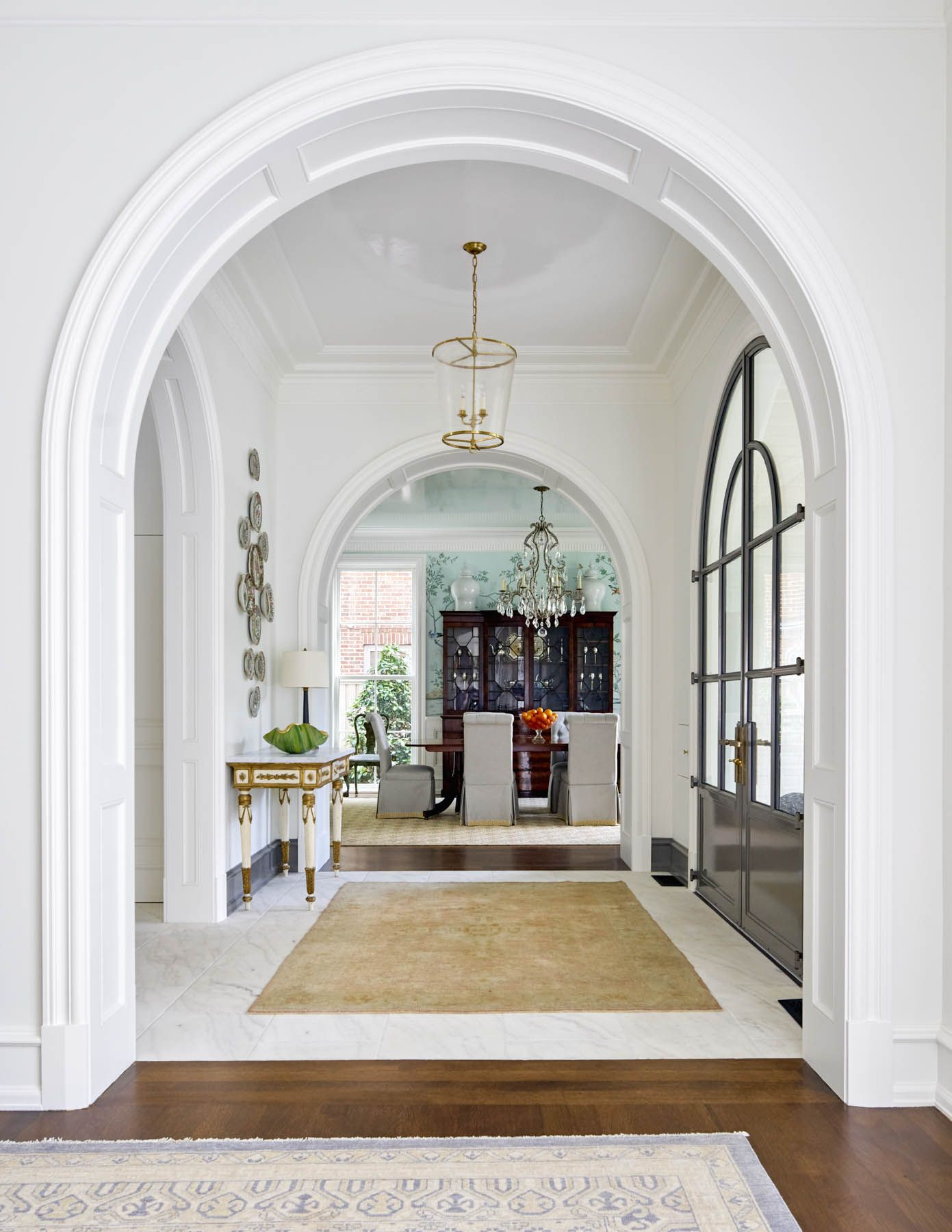 Archway Ideas Interior Arched Hallways And Crown Mold Ceilings Jenkins