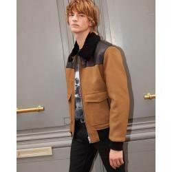 Photo of The Kooples – Fur collar camel wool aviator jacket – Damenthekooples.com