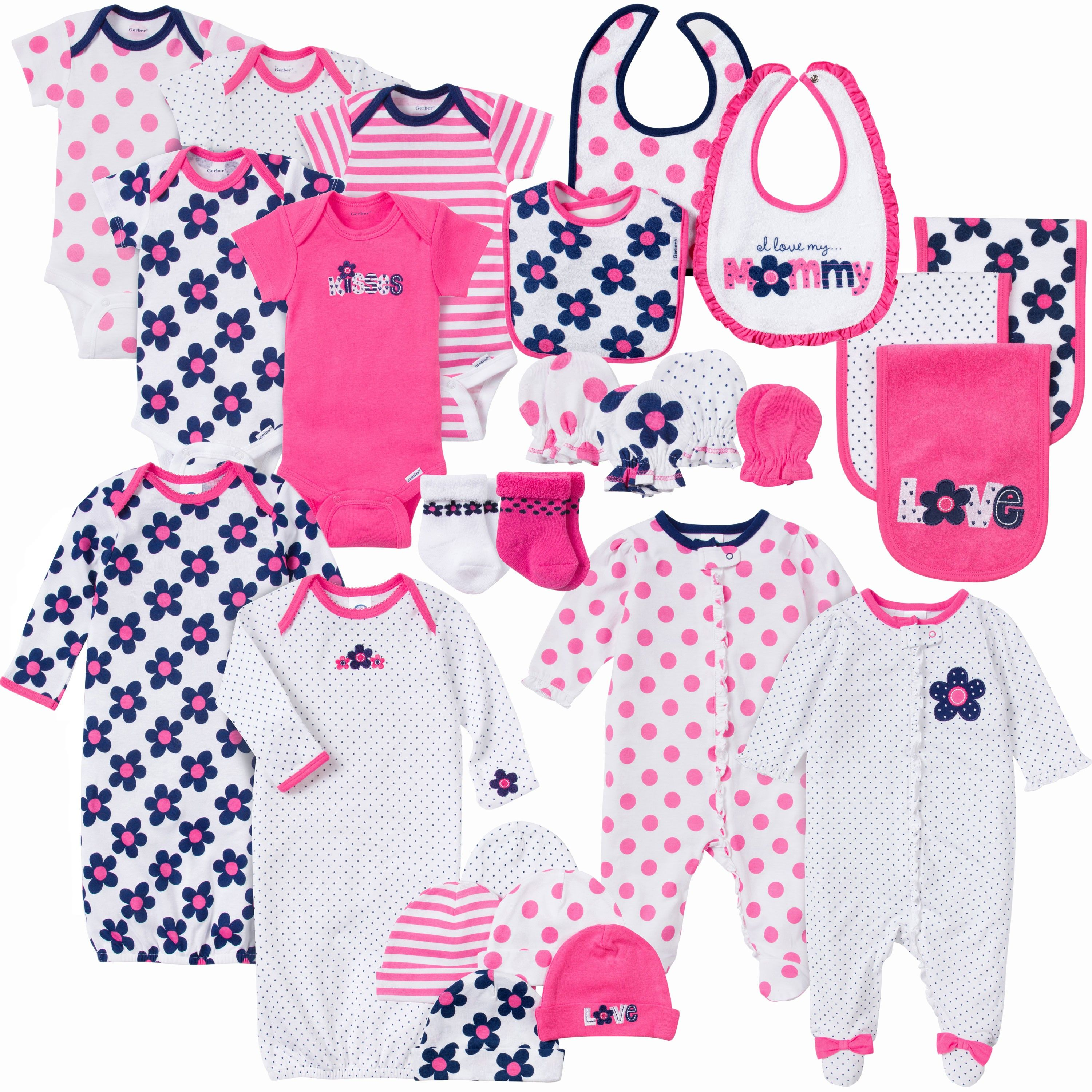 Full of all the essentials for baby girl! This 26-piece set includes ...