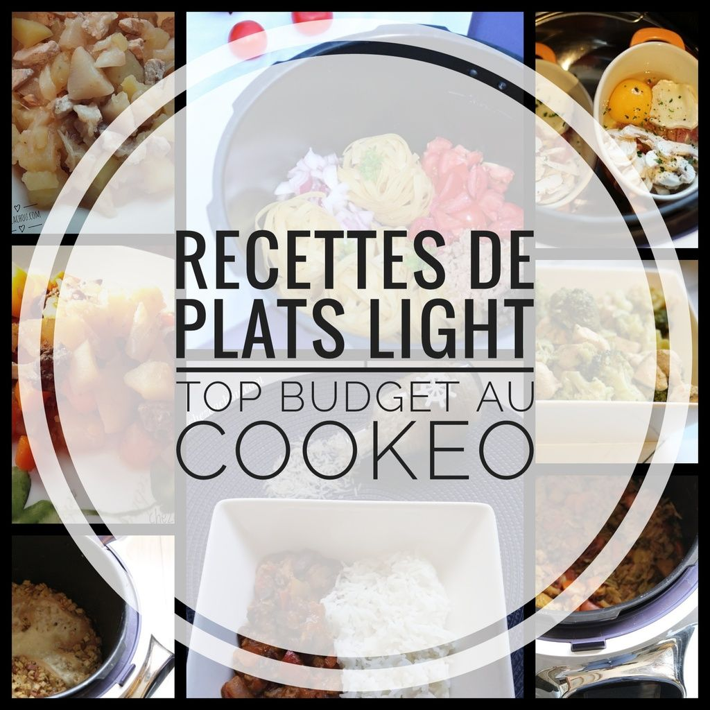 Recettes de plats light top budget au Cookeo