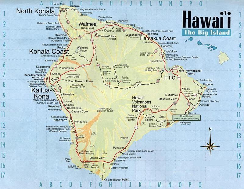 Kohala Hawaii Map.Big Island Hawaii Map Vacationroost Kona Village Resort