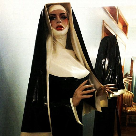 Custom Project  THE LATEX NUN by HOUSE of HARLOT. She's reversible! She's naughty!!