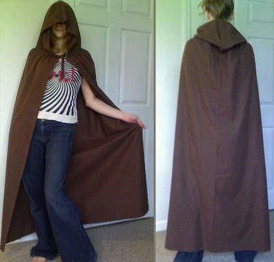 """Adult Unisex 69/"""" Hooded Cape Long Cloak Halloween Costume Dress Coat Black LI"""