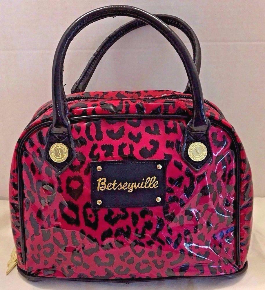 Betseyville Betsey Johnson Makeup Cosmetic Bag Pink