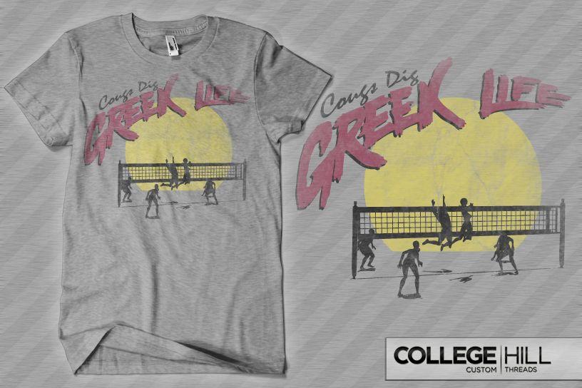 Greek Volleyball Tournament Design Greeklife Fraternity Sorority