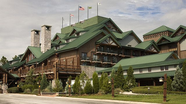 Wilderness Lodge at Walt Disneyworld.  Inspired by the Old Faithful Inn, Yellowstone National Park.