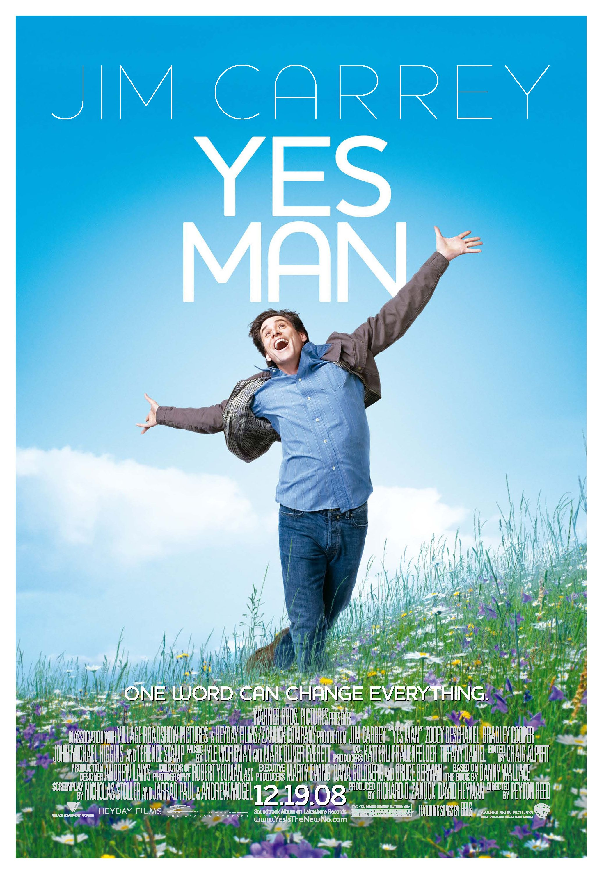 Just say yes. Comedy movies posters, Yes man