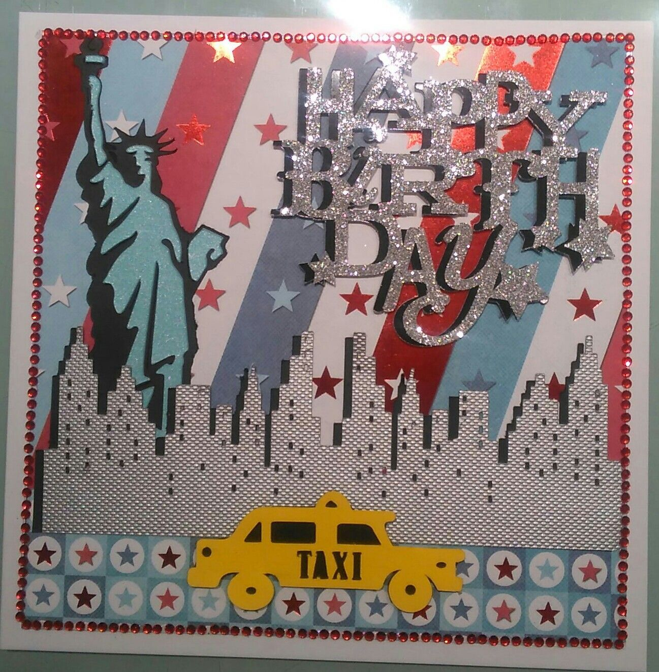 Cricut New York Themed Birthday Card