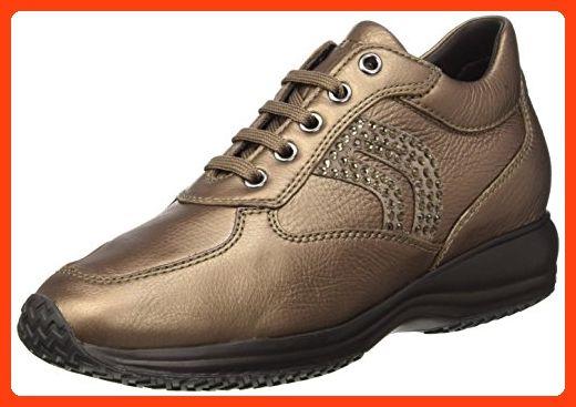 Geox Damen D Happy C Hohe Sneakers, Braun (Leadc9003), 37 EU