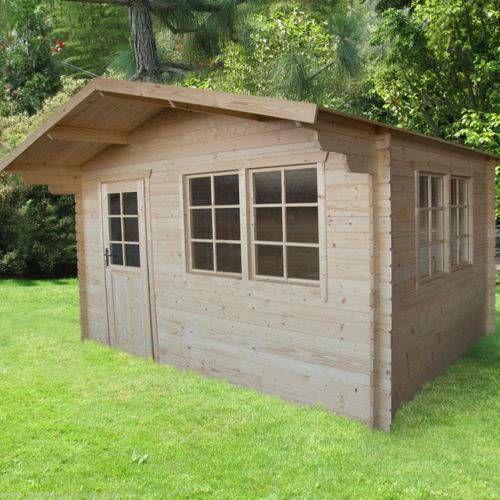 40 mm Gartenhaus Holz Holzhaus 4x3m Blockhaus GerÃtehaus
