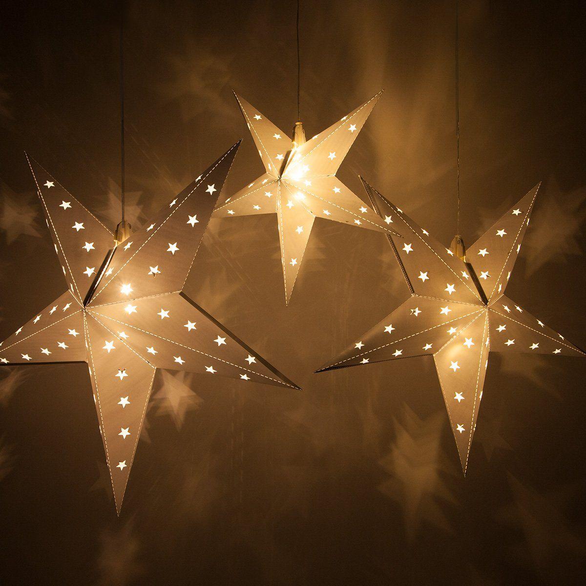 Foldflat 5point Star Light Led Star Christmas Decoration Christmas Star Light Batterypowered With Timer 18 Silver Lights Lanterns Battery Powered Led Lights