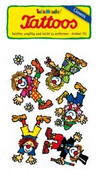 Mitgebsel ClownTattoos  Kindergeburtstag  Zirkusparty