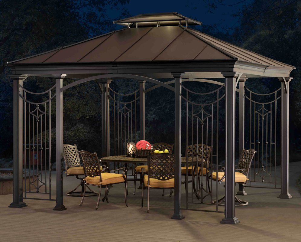 12 Ft W X 10 Ft D Aluminum Patio Gazebo Patio Gazebo Gazebo Aluminum Patio