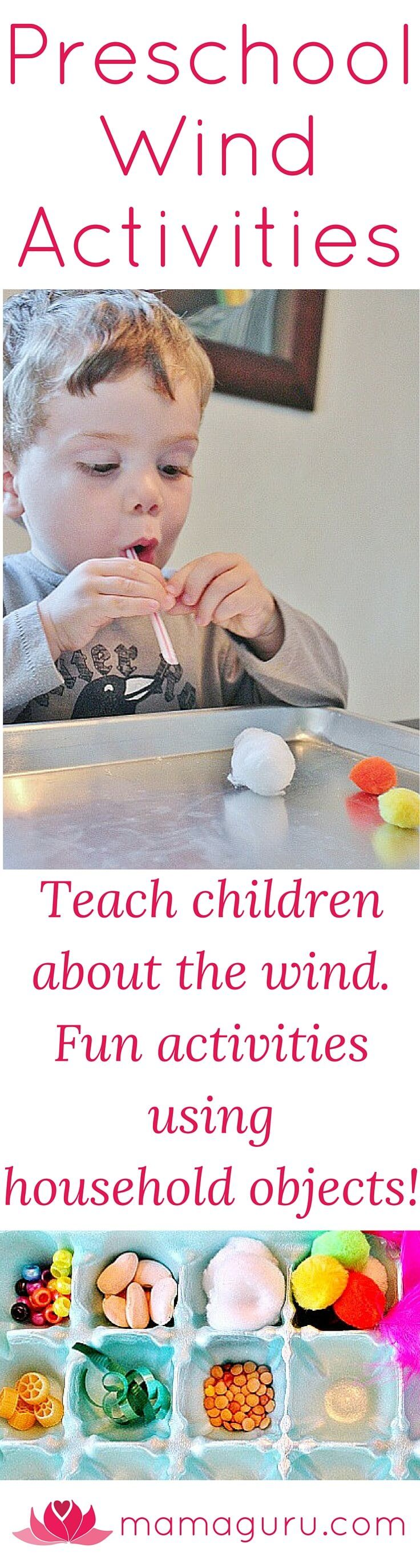 Preschool Wind Activities Using Household Objects