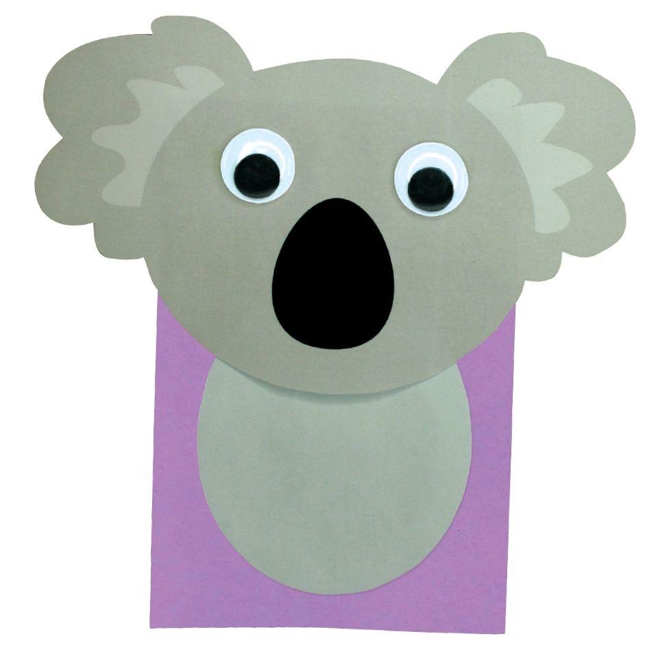 koala paper bag puppet cleverpatch puppets koala paper bag puppet cleverpatch
