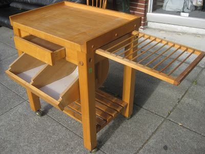 Uhuru Furniture Collectibles Sold Rolling Le Gourmand Butcher Block Table 150 Dining Tables