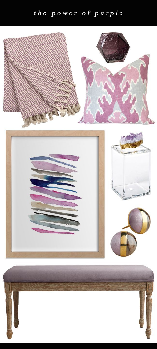 The Power of Purple // Home Decor in this dreamy hue