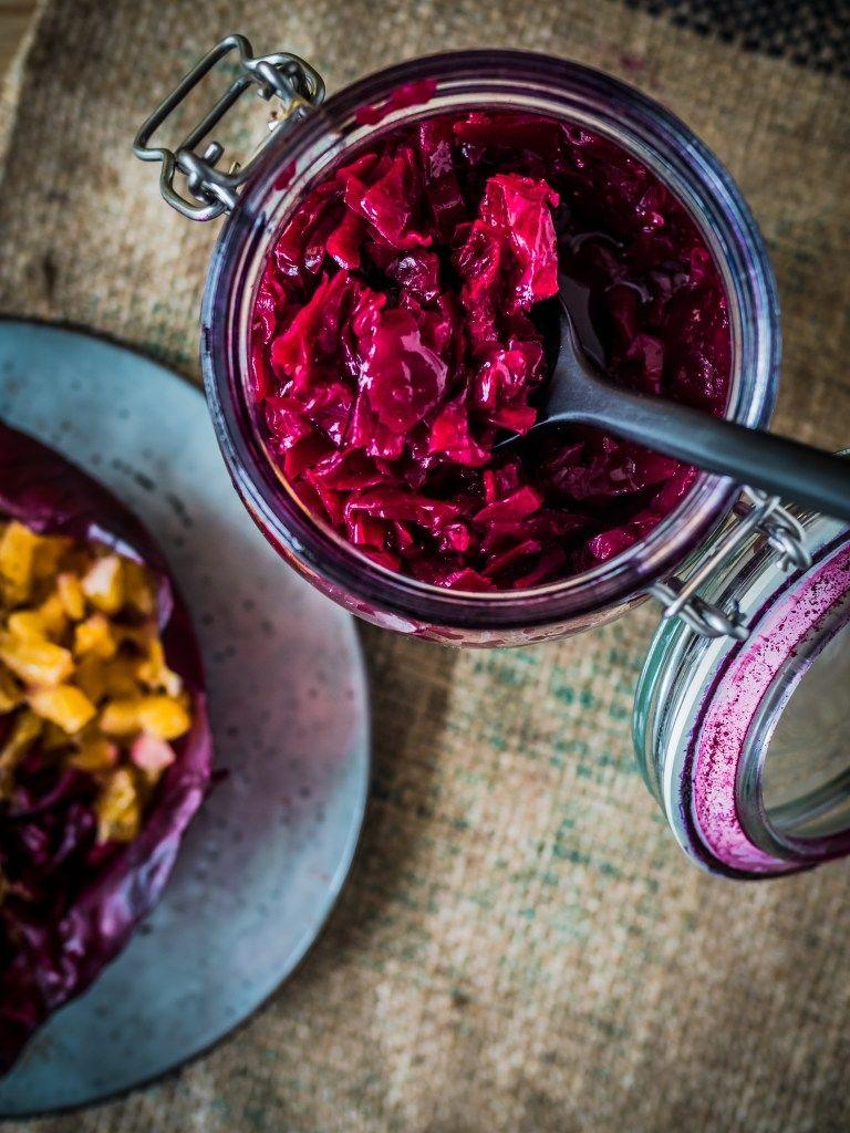 Rotkohl Lebensmittel Essen Rotkohl Herzhafte Speisen