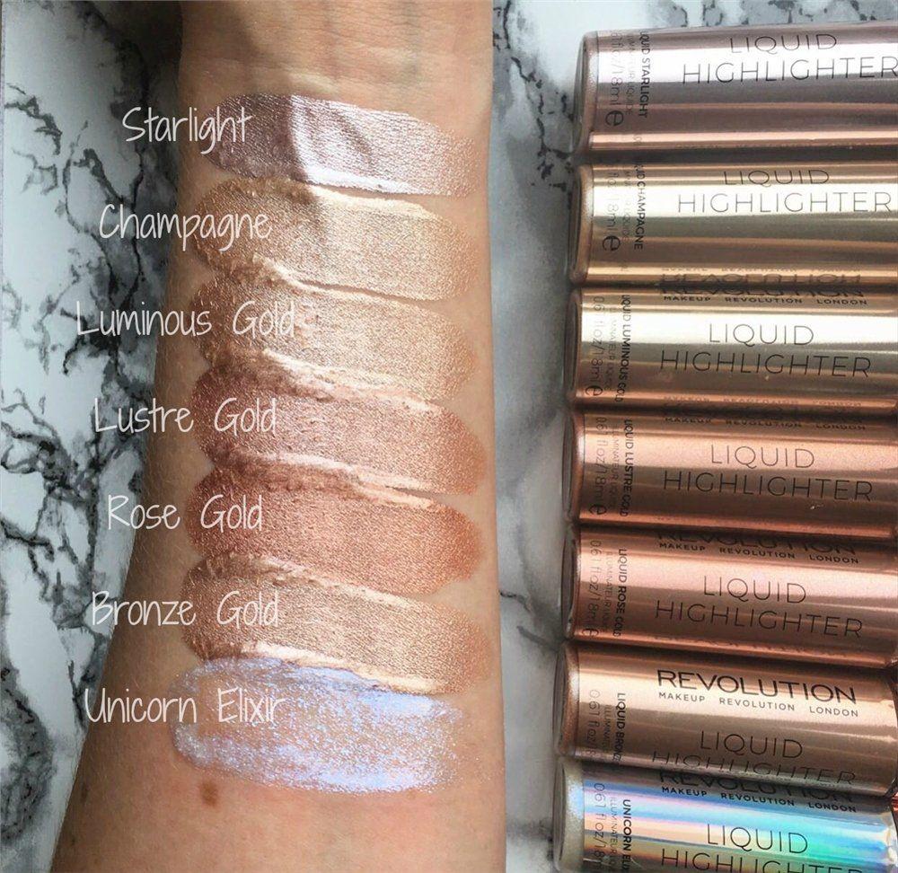 makeup revolution liquid highlighter Revolución del