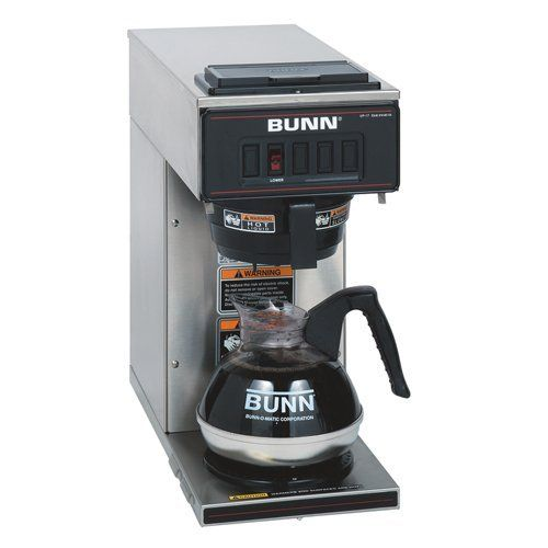 Bunn 13300 0001 Vp17 1ss Pourover Coffee Brewer With 1 Warmer Stainless Steel By Bunn 279 95 Splashgar Bunn Coffee Maker Coffee Maker Machine Coffee Brewer