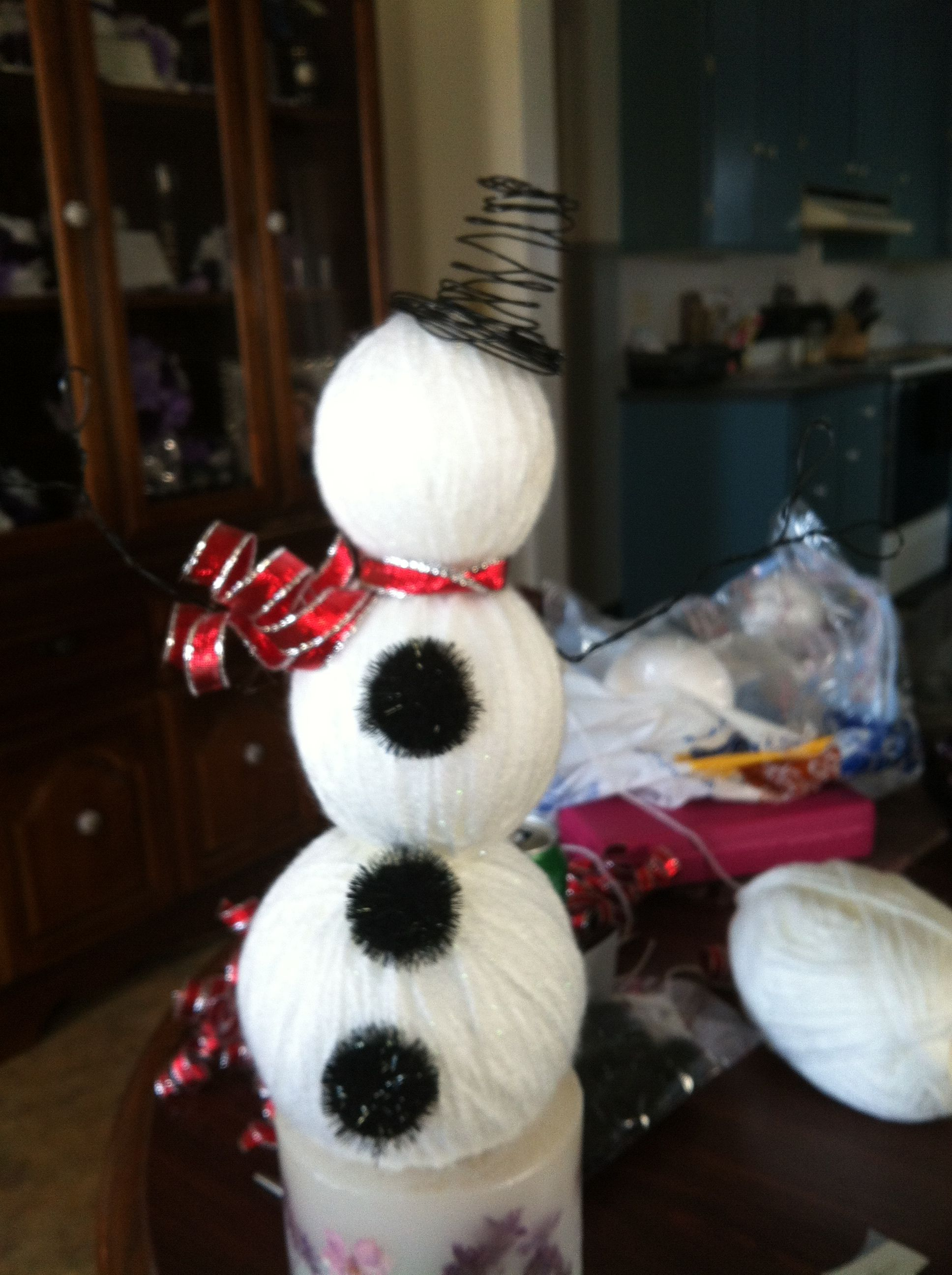 Snowman I made for Christmas gifts!!