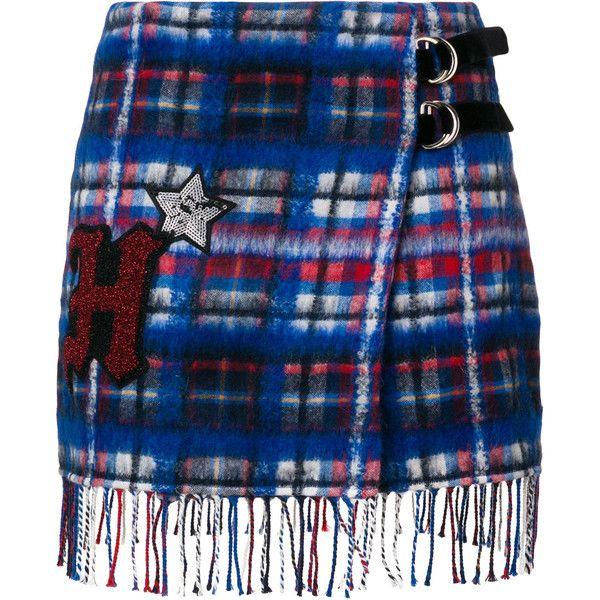 la de 485 Hilfiger cuadros faldas Falda gustó Polyvore ❤ con a en Azul Me colección qwYSWtE