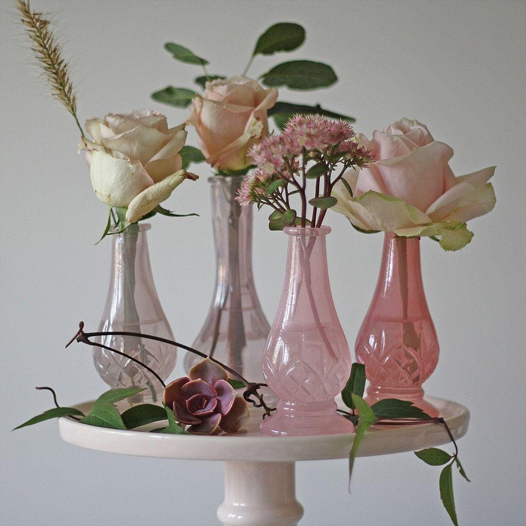 Dainty pink glass bud vases wedding centrepieces available from dainty pink glass bud vases wedding centrepieces available from theweddingofmydreams reviewsmspy
