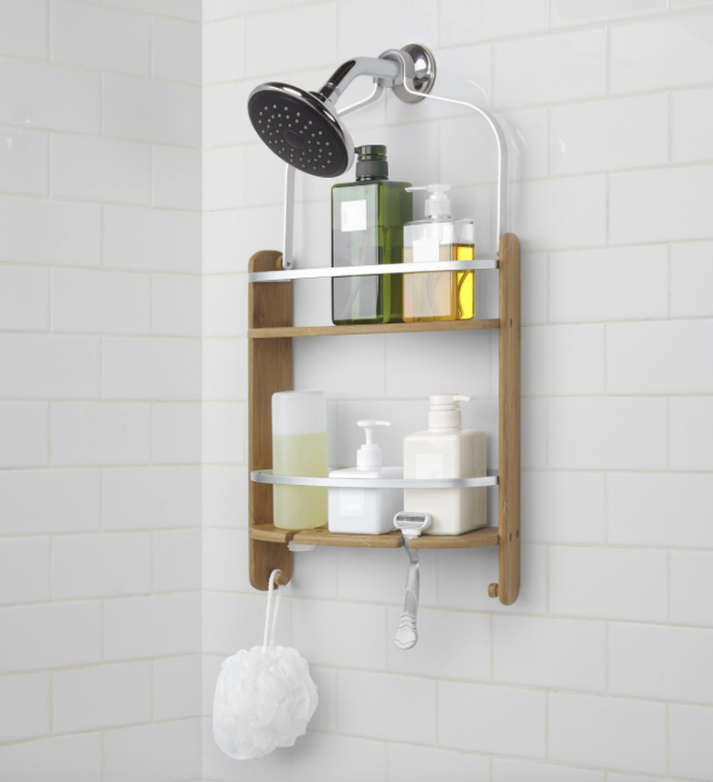 Umbra Barrel Shower Caddy With Images Bamboo Shower Caddy