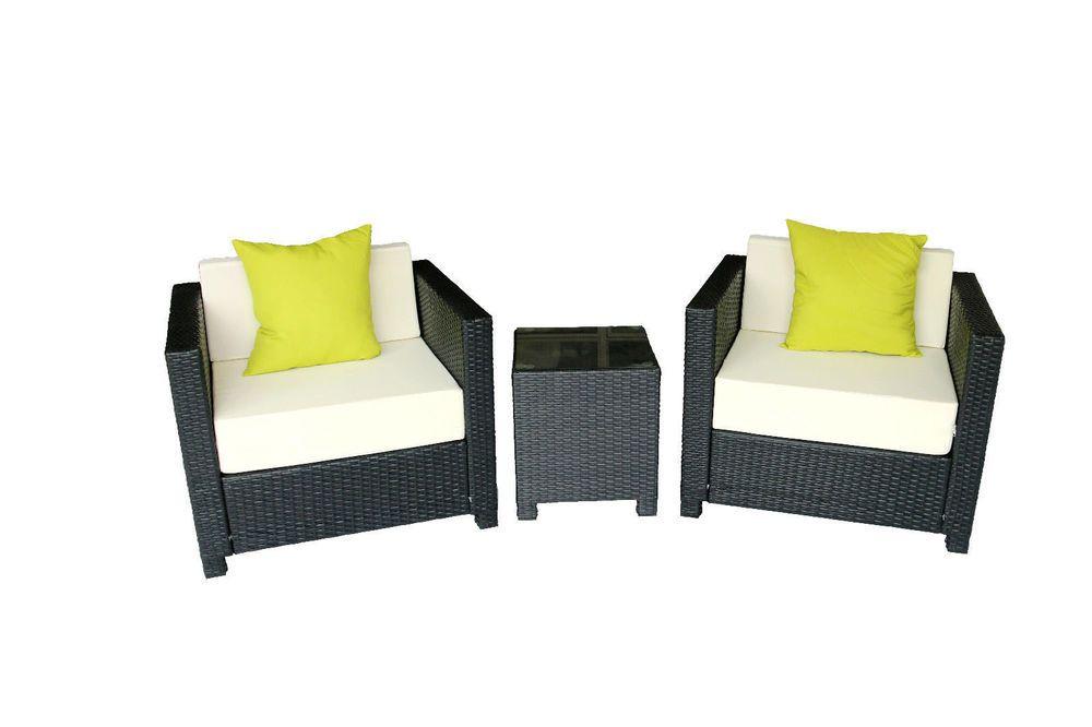 DIY Deluxe Outdoor Garden Patio Rattan Wicker Furniture Sofa